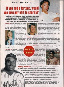 1992 Sassy magazine 'What He Said'