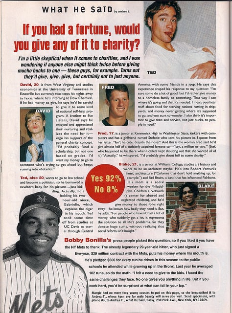 Bobby Bo's '92 pledge