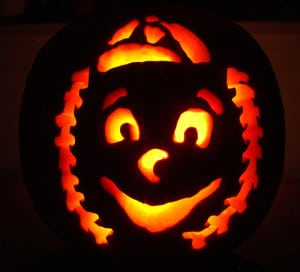 Mr. Met pumpkin