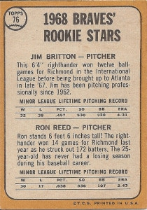 1968 Topps Braves' Rookie Stars