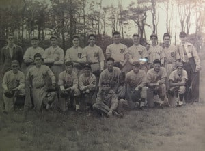 Early Orleans team with several different jerseys