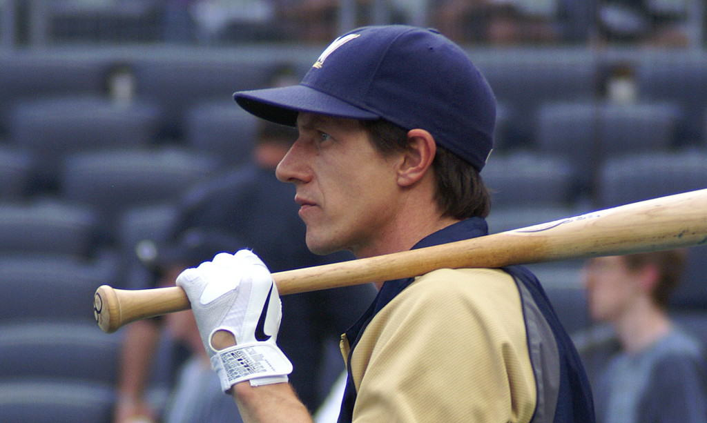 Craig Counsell at Yankee Stadium.