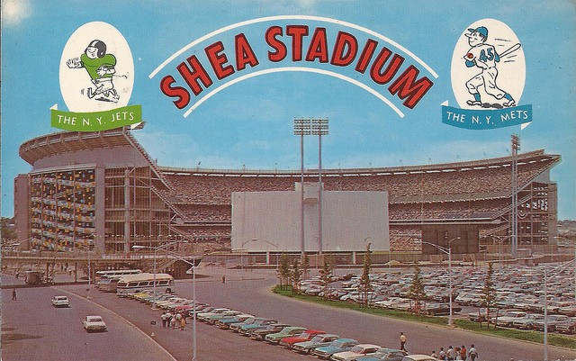 A 1964 Shea Stadium postcard and the great Pearl Bailey