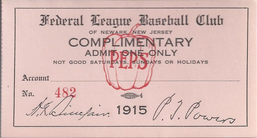 1915 Peppers ticket