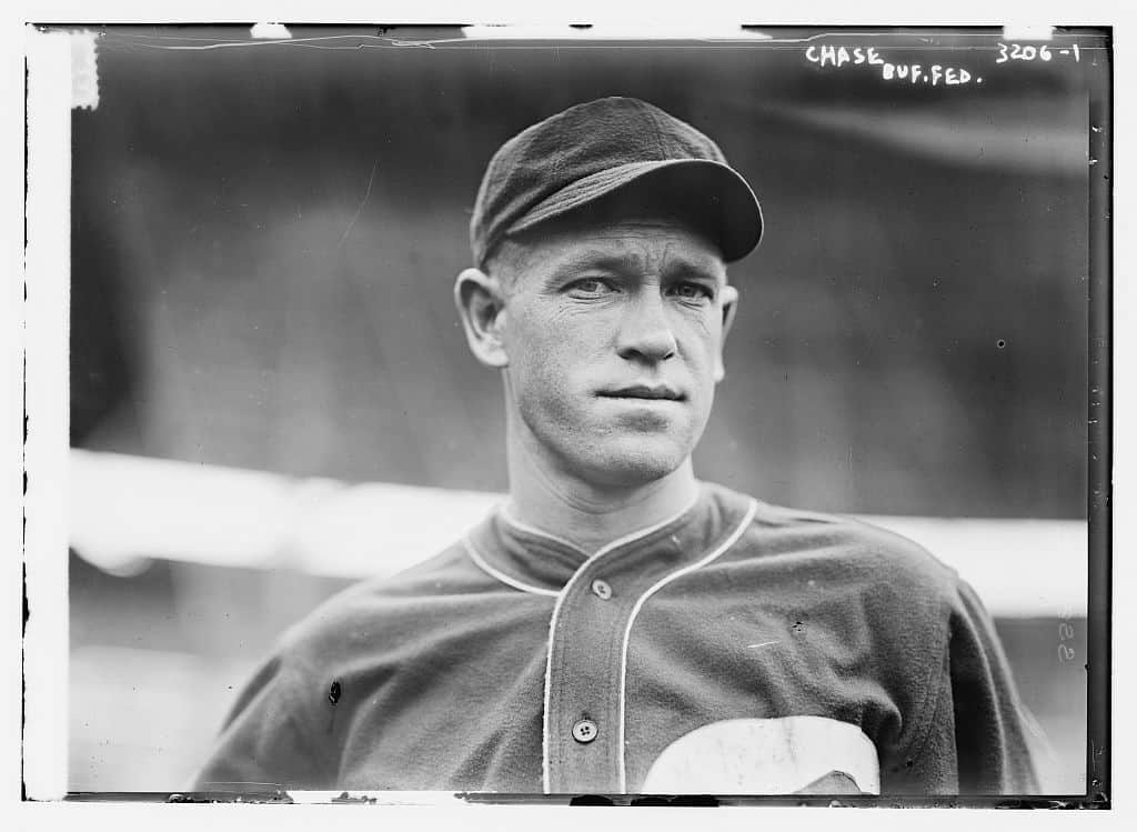 Hal Chase in a Buffalo uniform, 1915. (Library of Congress Bain Collection)