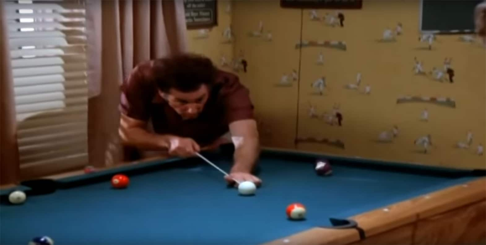 Baseball on the wall in 'Seinfeld'