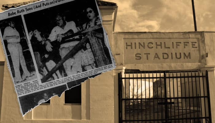 Babe Ruth loved the fights at Hinchliffe Stadium
