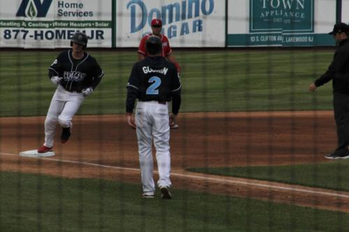 Ben Pelletier rounds third after his homer